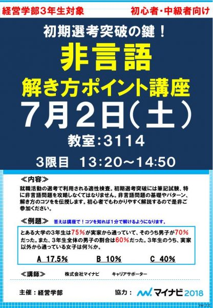 【文教大学経営学部】非言語解説講座