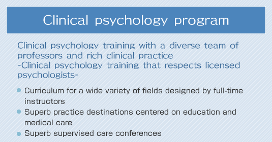 Clinical psychology program