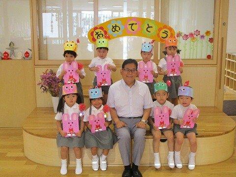 ひよこ組7・8月生まれの誕生会